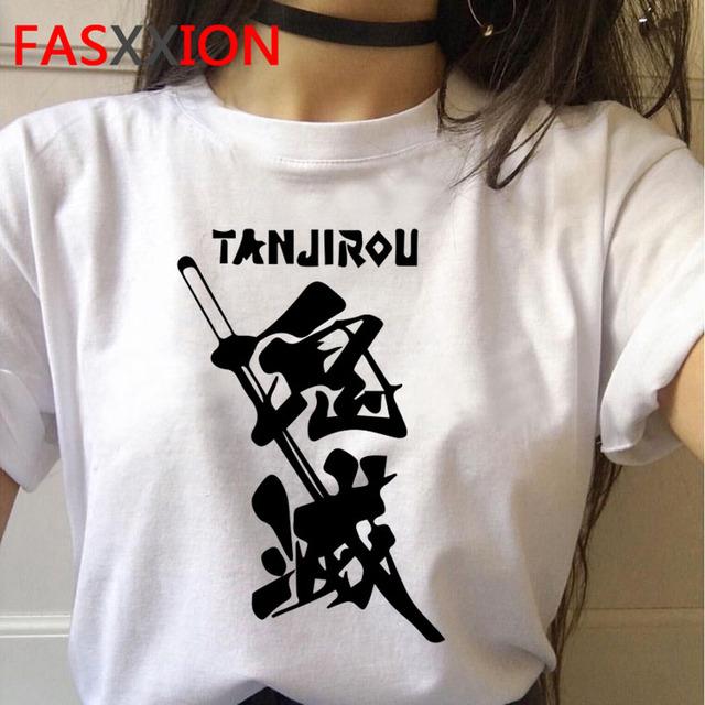 demon slayer t shirt Women graphic top