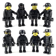 Police City Dolls Building Blocks Toy With A Variety Of Shapes Scenes Structure Weapon Equipment For Children