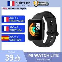 Xiaomi-reloj inteligente Mi Watch Lite versión Global, resistente al agua hasta 5atm, con Bluetooth, Monitor de ritmo cardíaco y Fitness