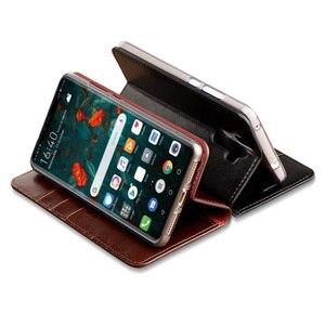 Image 2 - Etui z klapką do Samsung S7 krawędzi S8 S9 S10 20 Plus A50 A51 A70 A71 wosk z oliwek skóry pokrywa dla uwaga 10 lite 8 9 20 Ultra przypadku