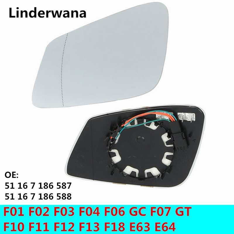 O 4 <font><b>Plug</b></font> Heated Mirror Glass For BMW F01 F02 F03 F04 F06 <font><b>GC</b></font> F07 GT F10 F11 F12 F13 F18 E63 E64 51 16 7 186 587 51 16 7 186 588 image