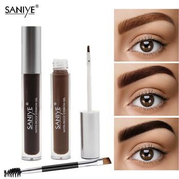 SANIYE Brown Color Eyebrow Gel Tint eyebrow pomade Eye Makeup Eyebrow Enhancer Eye Brow Dye Cream Paint Cosmetic With Brush M303