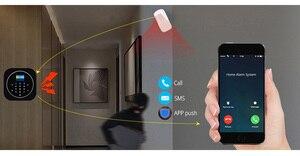 Image 5 - Sgooway fabrika dokunmatik tuş takımı WIFI GSM ev hırsız güvenlik kablosuz Tuya Alarm sistemi hareket dedektörü APP kontrol yangın duman