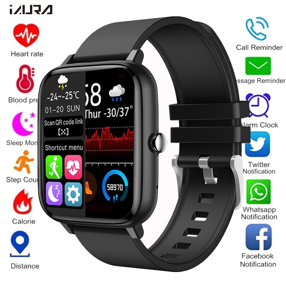 2021 Smart Watch donna uomo cardiofrequenzimetro Fitness Tracker orologio da polso chiamata Bluetooth Smartwatch sportivo impermeabile per Android IOS 1
