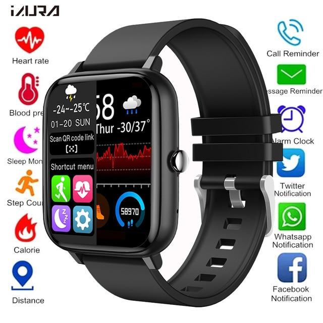 2021 Smart Watch Women Men Heart Rate Fitness Tracker Bracelet Watch Bluetooth Call Waterproof Sport Smartwatch For Android IOS 1