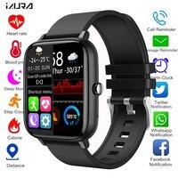 2021 reloj inteligente de las mujeres de los hombres rastreador deportivo de ritmo cardíaco reloj de pulsera Bluetooth llamada deporte impermeable Smartwatch para Android IOS