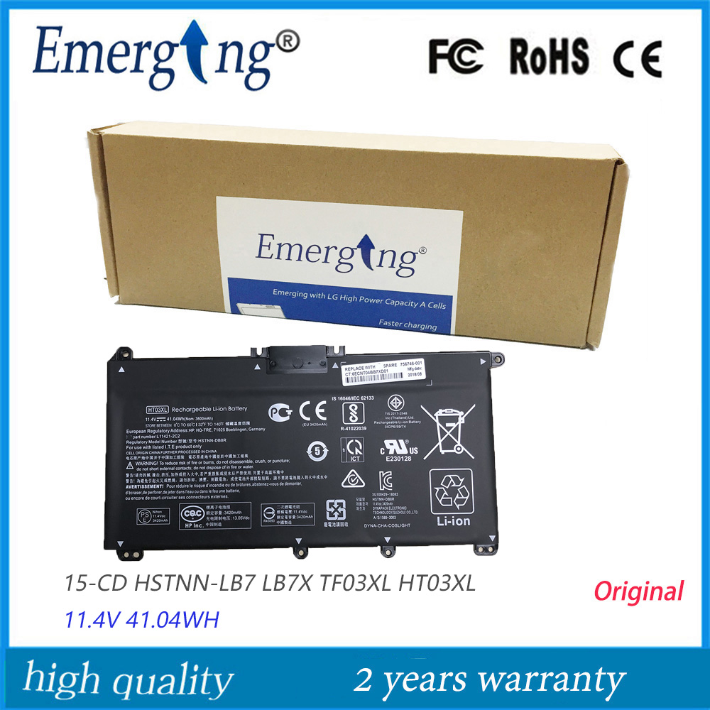 11.4v 41.04Wh New Original HT03XL Laptop Battery For HP Pavilion 15-CD HSTNN-LB7 LB7X TF03XL HT03XL