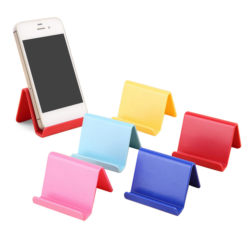 6 * 4.5cm Colorful Portable Fixed Phone Holder Xiaomi For Iphone Cute Phone Holder Plastic Storage Rack Candy Mobile Phone Holde
