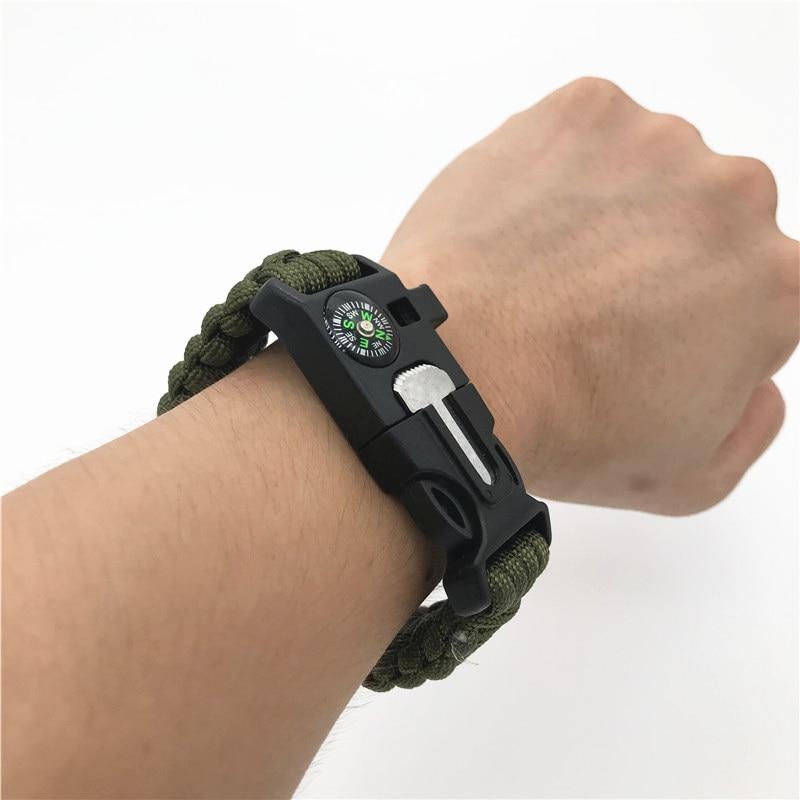 "3//4/"" Fire Starter Survival Whistle Buckle Flint Scraper For Paracord Bracelet"