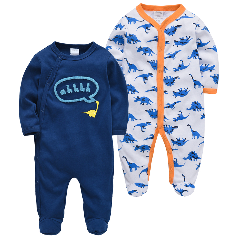 2pcs/lot Newborn Boys Romepr Body Jumpsuit Kavkas Baby Girl Clothes 100%CottonOveralls