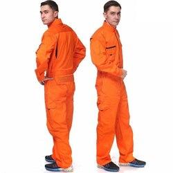 Высококачественный мужской 100% хлопок оранжевый Рабочий Комбинезон промышленный комбинезон рабочая одежда комбинезон