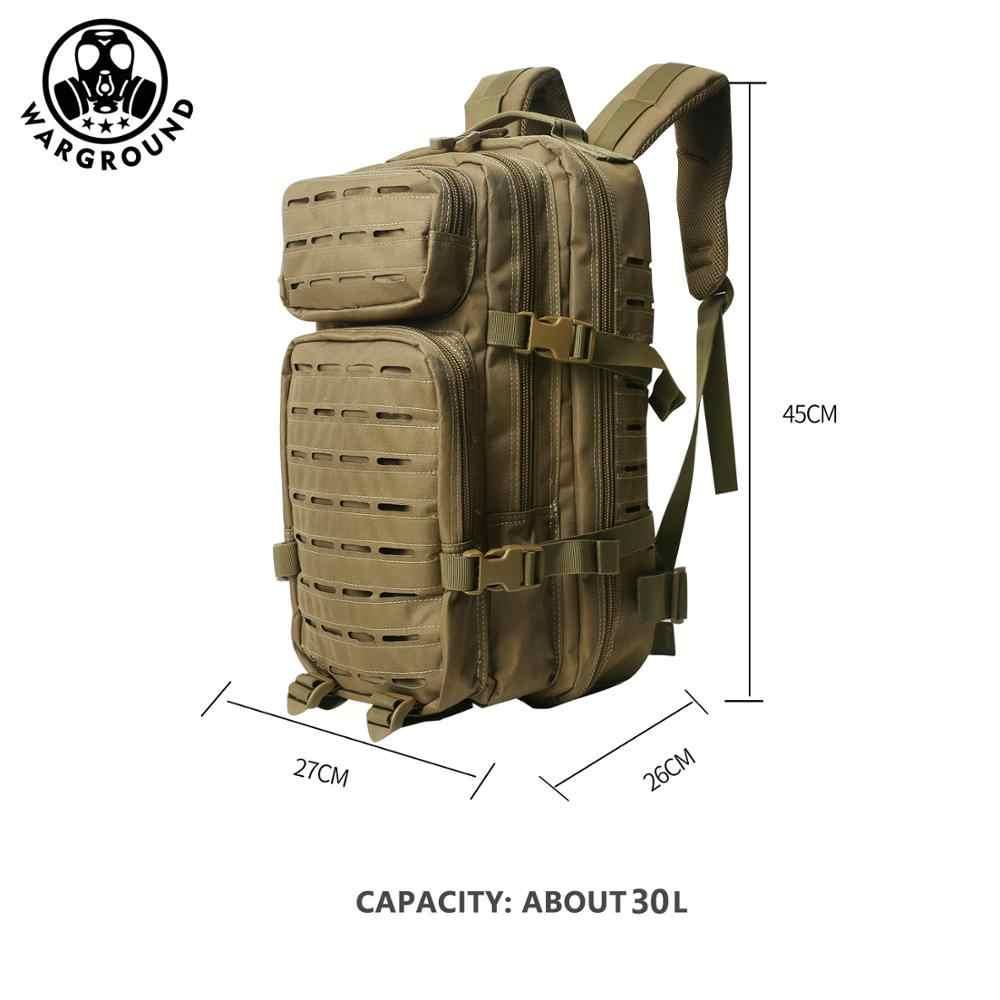 30L Ransel Militer Molle Taktis Tas Pria Militer Tahan Air Kamuflase Tas Hiking Camping Memancing Berburu Ransel