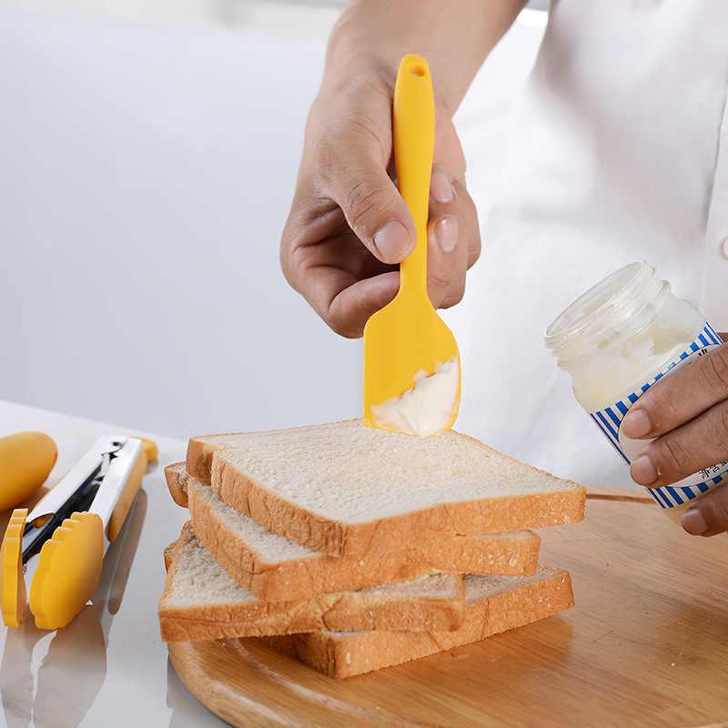 Silikon Baking Peralatan Set Food Grade Non Stick Mentega Pengikis Sikat Eggbeater Kue Baking Set dengan Kotak Penyimpanan Alat Dapur