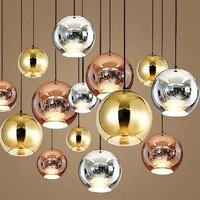 Moderne Glas Anhänger Licht Design Decor Blase Bälle Led Leuchte Leuchte Esszimmer Nordic Cristal Lustre HangLamp-in Pendelleuchten aus Licht & Beleuchtung bei