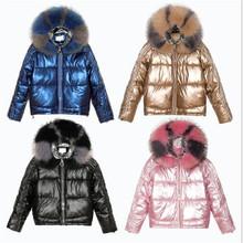 Jesienno-zimowa w nowym stylu koreańska damska luźna pikowana kurtka błyszcząca gruby wyściełany płaszcz duża futrzana kurtka ocieplana kurtka wierzchnia tanie tanio Na co dzień zipper Pełne COTTON Grube Sukno Stałe WOMEN REGULAR Z KIESZENIAMI Zamki błyskawiczne solid color long sleeve