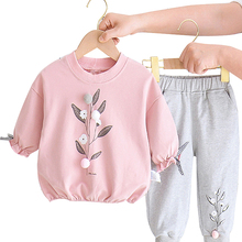 2Pcs Baby Girls Clothing Sets Autumn Winter Toddler Girls Clothes Kids Tracksuit For