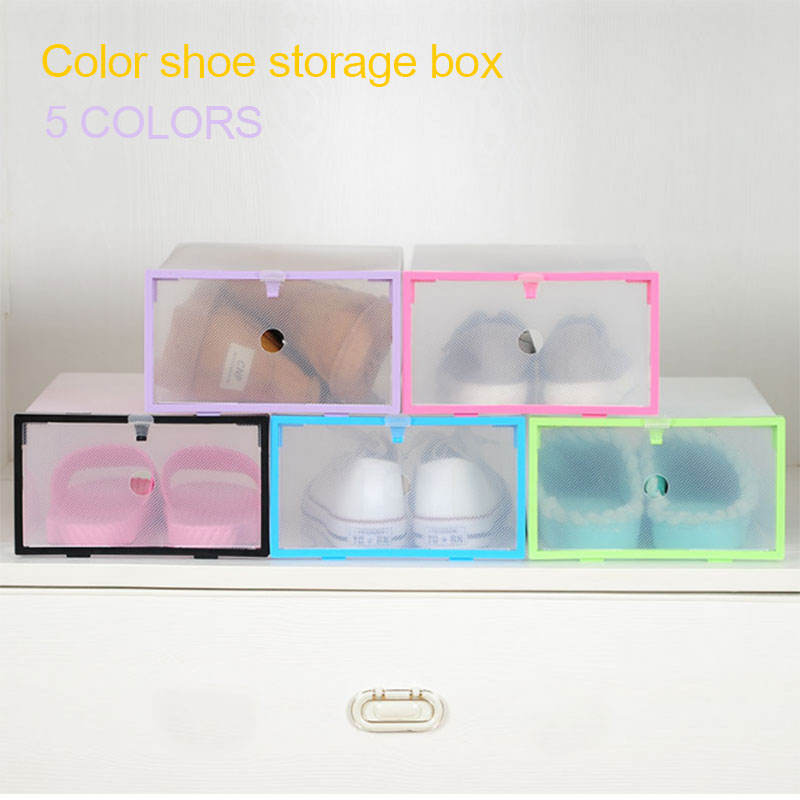 Foldable Box Shoe Box Shoes Storage Box Durable Convenient PP Housekeeping Household Supplies Slipper Container Organization
