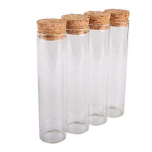 Image 5 - 24 قطعة 60 مللي حجم 30*120 مللي متر أنبوب اختبار مع سدادة الفلين زجاجات توابل جرار الحاويات قوارير DIY الحرفية