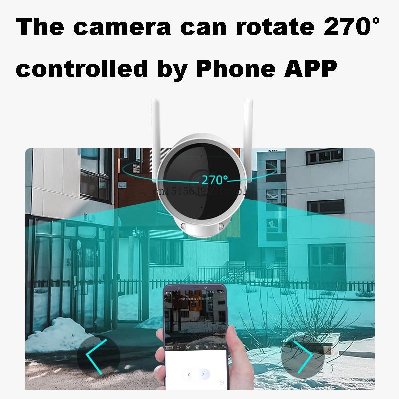 Hot Deals2020 xiaomi Smart Outdoor Camera Waterproof PTZ webcam 270 angle 1080P Dual antenna signal
