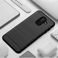 Karbon Yumuşak Silikon Telefon samsung kılıfı Galaxy A6 Artı A6S 2018 Kapak Tampon GalaxyA6 A6plus A62018 A6s2018 SM A600F A605F