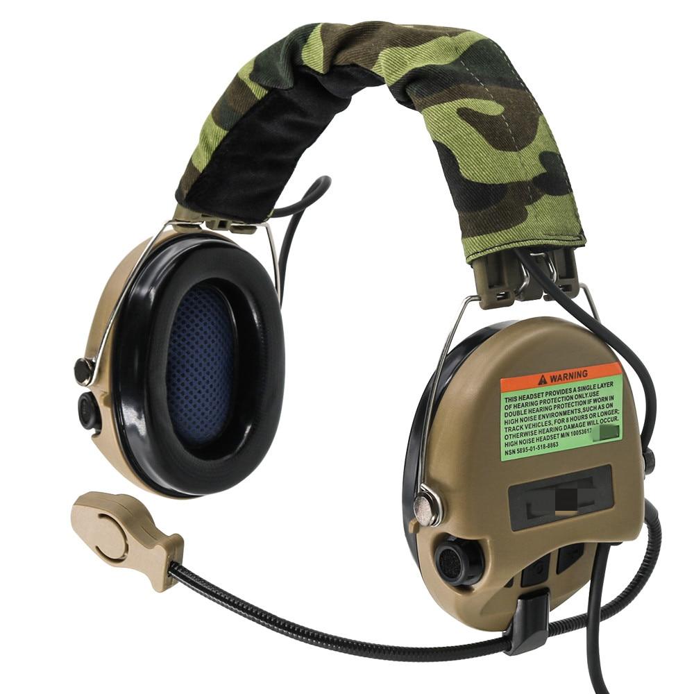 Fone de Ouvido Fone de Ouvido de Tático Softair Sordin Redução Ruído Caça Airsoft de
