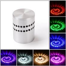 RGBSpiral Hole LED Wall Light Effect Wall Lamp With Remote Controller Colorful Wand lamp For Party Bar Lobby KTV Home Decoration