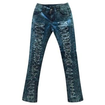 woman mom high waist jeans mujer spodnie damskie jean vaqueros mujer denim streetwear plus size calca jeans feminina pant 3XL Z4 4