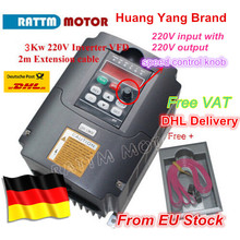 2020 New type 3KW Inverters & Converters 3KW Variable Frequency Drive VFD Inverter 4HP 220V for CNC Spindle motor speed control