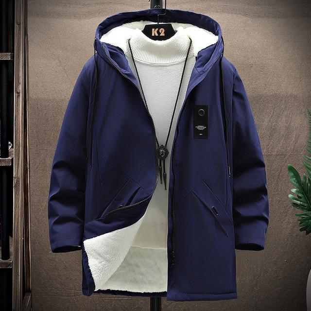 KOLMAKOV 2021 New Men's Thin or Thick With Velvet Windbreaker Men Hooded Printed Overcoats Casual Long Trench Coats Male M-4XL 3