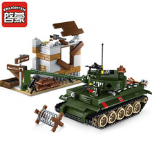 380Pcs Military War Tiger Tank Counterattack Exercises ARMY Technic Soldiers Building Blocks LegoINGLs Bricks Toys for Children