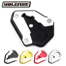 Motocicleta CNC soporte de aluminio pie Lado de extensión de la placa de soporte ampliar soporte para Ducati 848 de 1098 a 1198