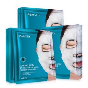 1pcs Moisturizing Mask Amino Acid Bamboo Charcoal Bubble Mask Deep Clean Pores Dirt Moisturizing Whitening Mask Care Skin TSLM1