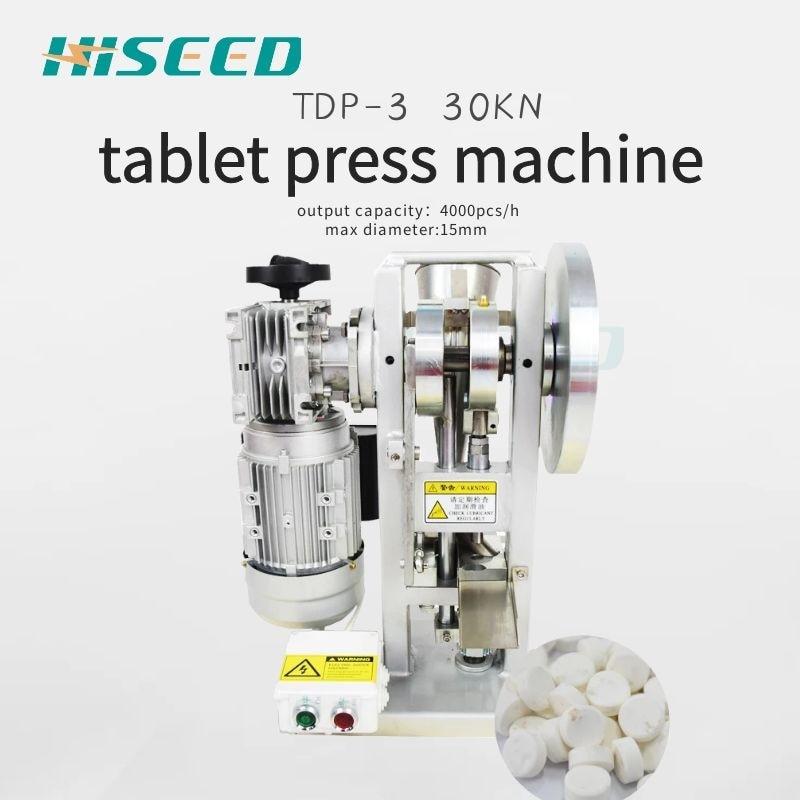 Tdp 3 tablet presse maschine tablet pille presse maschine große durchmesser tablet presse süßigkeiten tablet presse maschine