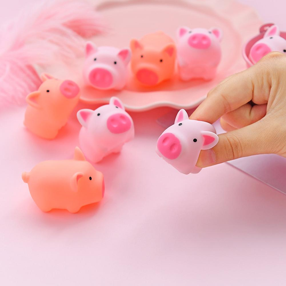 Cartoon Soft Cute Toys Special Pink Piggy Toys Cute Little Mini Office Finger Pig Pressure Reducing Pocket Toy