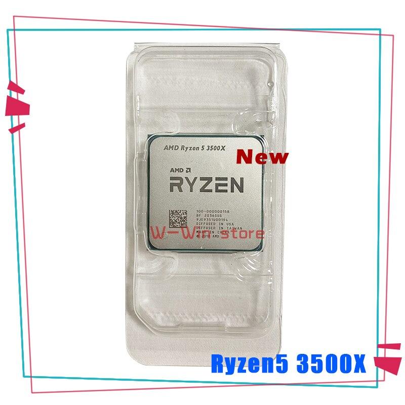 Новый процессор AMD Ryzen 5 3500X R5 3500X 3,6 ГГц шестиядерный шестипоточный процессор 7 нм 65 Вт L3 = 32M 100-000000158 разъем AM4