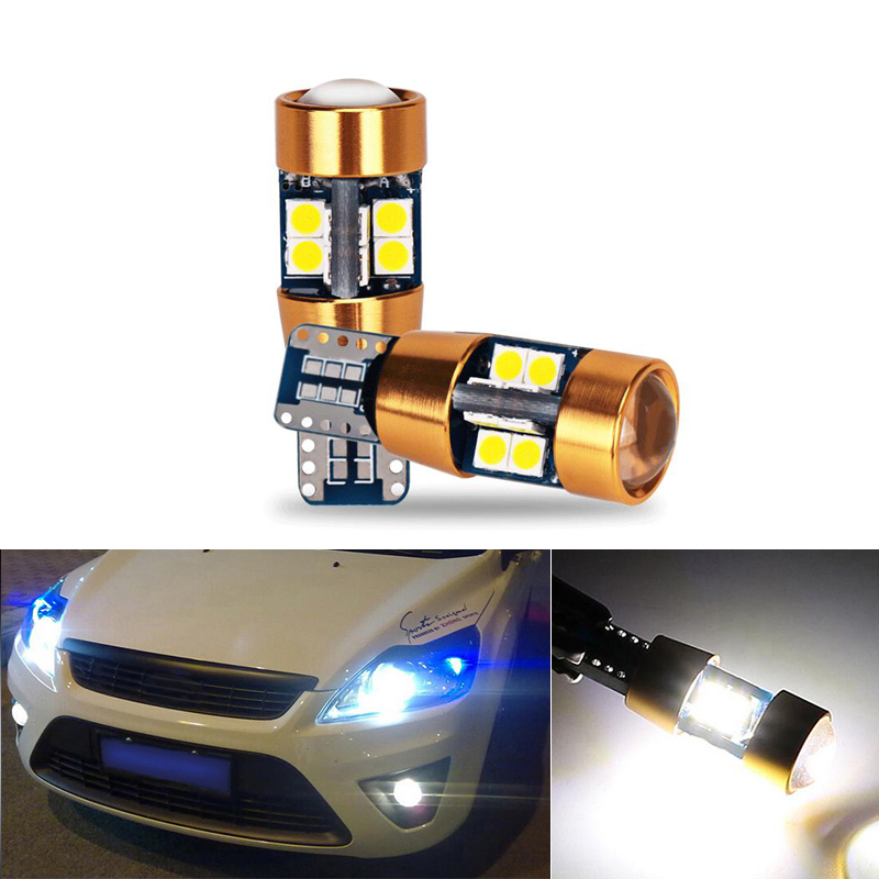 2x Canbus Car LED T10 W5W 19LED Parking Light For Ford Mondeo 4 3 Focus 2 1 Fiesta Transit Fusion Kuga Ranger <font><b>Mustang</b></font> KA S-max image