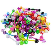 20Pcs/Set Stainless Steel Rod Colorful Body Piercing Jewelry Tongue Nail Lip Eyebrow Nose Ring