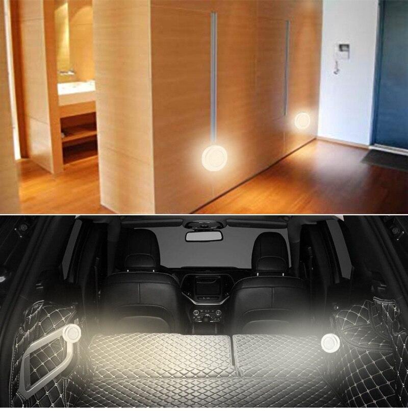 6 LED Cool Portátil Sem Fio Sensor de Movimento Luz Da Noite Levou Luzes para Casa para Sala de estar