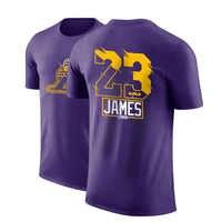 LA LBJ james bryant Occidental todos los equipos de baloncesto camiseta Curry Doncic harden Lillard Kawhi camiseta de los hombres de algodón dpoy diseño de marca