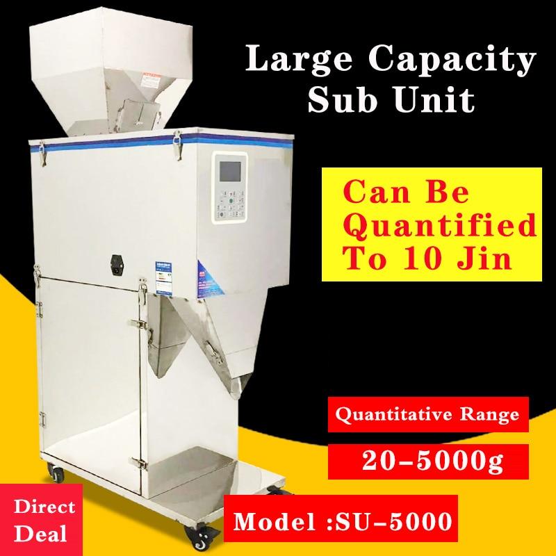 20-5000 G Large Capacity Sub Loading Machine Grain Powder Rice Nut Grain Dog Food Weighing Quantitative Sub Loading Machine
