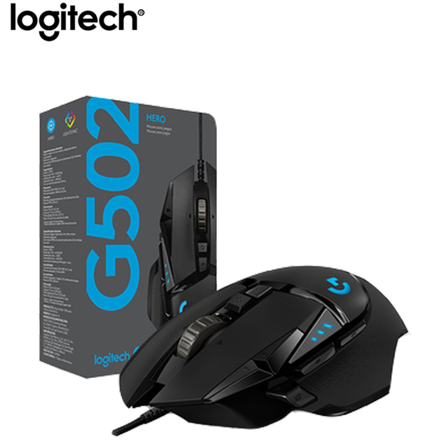 Logitech G502 HERO Professional Gaming Mouse 16000DPI Gaming Programming Mouse Adjustable Light Synchronizatio For Mouse Gamer