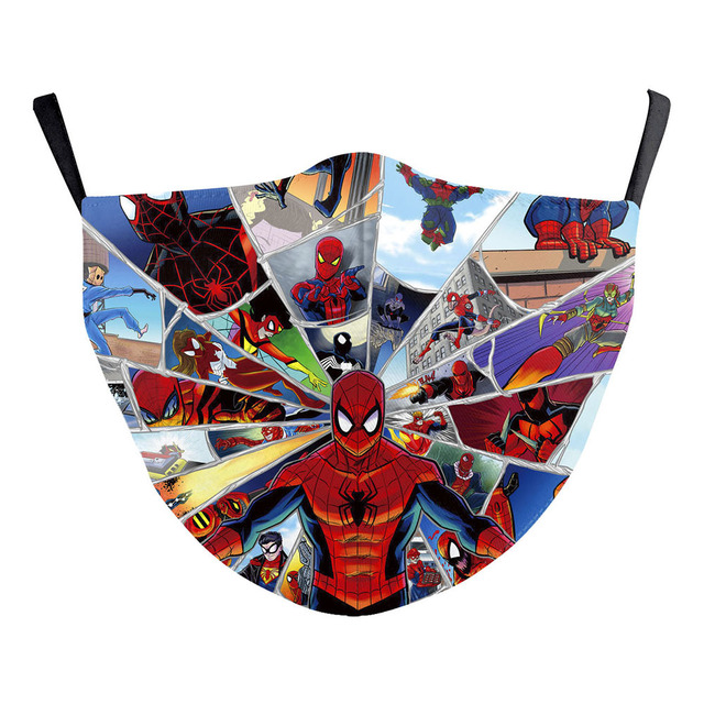 American comic book Star Wars Miles Morales Cosplay Kids Face Mask Dustproof Adult Masks 5