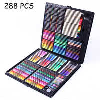 288PCS Watercolor Drawing Art Marker Brush Pen Set Children Painting Art Set Tools Kids For Gift Box Office Stationery Supplies
