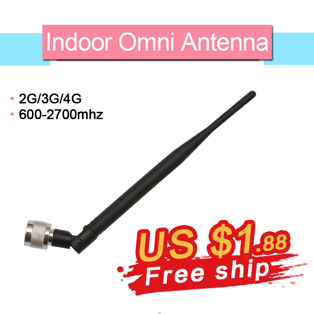 800-2500 Mhz 3dBi Omni Antenna Signal Booster Antenna Indoor GSM 3G Cellular Repeater Antenna With N Male Connector