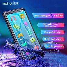 Mahdi M9 MP4 lecteur Bluetooth 5.0 écran tactile 3.5 pouces lecteur MP3 HIFI lecteur de musique soutien FM Radio E-book vidéo avec haut-parleur