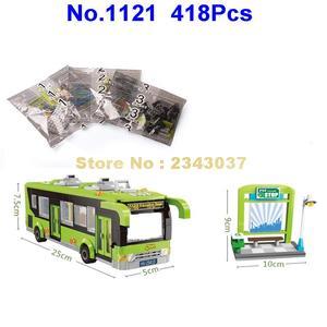 Image 5 -  418pcs city bus station enlighten building block 4  Toy
