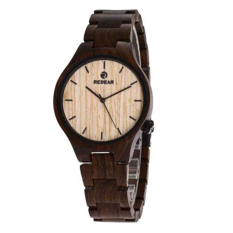 2019 Amazon Hot Style Wooden Watches New Ebony Quality Cross-border For Direct Manufacturers With A Belt