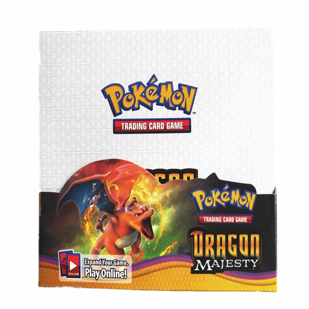 324Pcs Pokemon PTCG: Sun & Moon Dragon Majesty  Booster Box Trading Card Battle Game Children Carte Toy