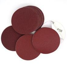 50PCS 6 Inch 150MM Aluminium Oxid PSA Vinyl Red Adhesive Schleifpapier Schleif Scheiben Schleifen und Polieren Metall, autos, Holz, stein