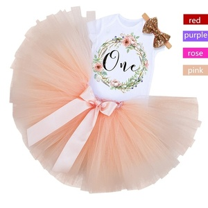 1 Year Old Birthday Party Dress Christening tutu Gown Baby Girl Clothes Christmas Carnival Newborn Baby Girl Dress vestidos